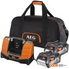 Зарядное утсройство AEG Powertools SET LL1840BL (2) 4932464157 (18В/4 Ah + 12-18В)