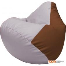 Бескаркасная мебель Flagman Груша Макси Г2.3-2507 (сиреневый/коричневый)