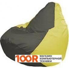 Бескаркасная мебель Flagman Груша Медиум Г1.1-360 (темно-серый/желтый)