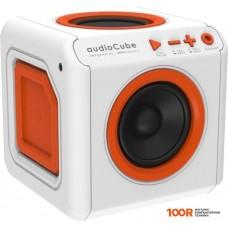 Беспроводная колонка Allocacoc Audiocube Portable (белый/оранжевый)