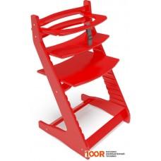 Детский стол Millwood Вырастайка с ограничителем (красный)