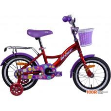 Детский велосипед AIST Lilo 14 (бордовый/фиолетовый, 2020)