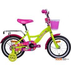 Детский велосипед AIST Lilo 14 (лимонный/розовый, 2020)