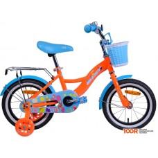 Детский велосипед AIST Lilo 14 (оранжевый/голубой, 2020)