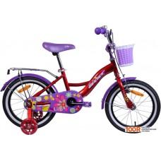 Детский велосипед AIST Lilo 16 (бордовый/фиолетовый, 2020)