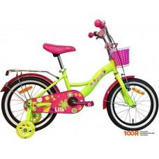 Детский велосипед AIST Lilo 16 (лимонный/розовый, 2020)