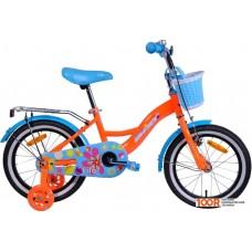 Детский велосипед AIST Lilo 16 (оранжевый/голубой, 2020)