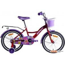 Детский велосипед AIST Lilo 18 (бордовый/фиолетовый, 2020)