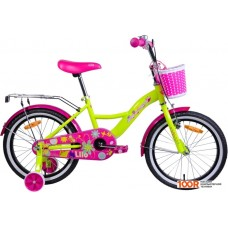 Детский велосипед AIST Lilo 18 (лимонный/розовый, 2020)