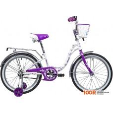 Детский велосипед Novatrack Butterfly 20 (белый/фиолетовый, 2019) 207BUTTERFLY.WVL9