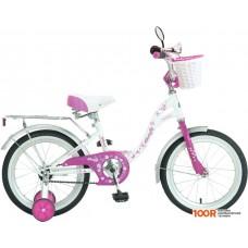 Детский велосипед Novatrack Butterfly 20 (белый/фиолетовый)