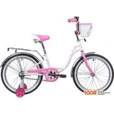 Детский велосипед Novatrack Butterfly 20 (белый/розовый, 2019) 207BUTTERFLY.WPN9