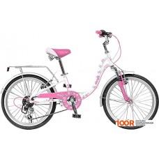 Детский велосипед Novatrack Butterfly 20 (белый/розовый, 2019) 20SH6V.BUTTERFLY.PN9
