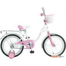 Детский велосипед Novatrack Butterfly 20 (белый/розовый)