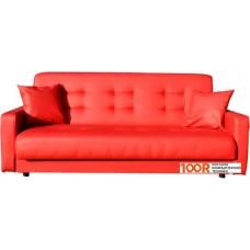 Диван Craftmebel Аккорд 120 см (боннель, экокожа, красный)