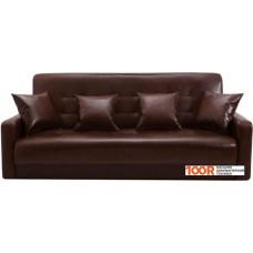 Диван Craftmebel Аккорд 120 см (ППУ, экокожа, коричневый)