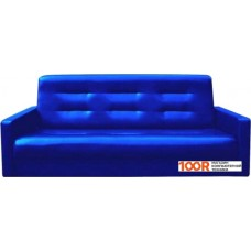 Диван Craftmebel Аккорд 120 см (ППУ, экокожа, синий)