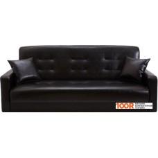 Диван Craftmebel Аккорд 140 см (ППУ, экокожа, черный)