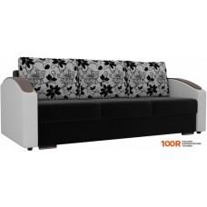 Диван Лига диванов Монако slide 102010 (черный/белый/серый)