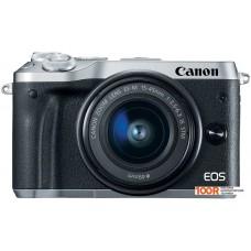 Фотоаппарат Canon EOS M6 Kit 15-45mm (серебристый)