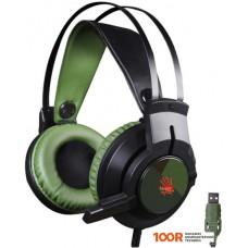 Игровая гарнитура A4Tech Bloody J450 (черный/зеленый)