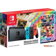 Игровыя консоль Nintendo Switch + Mario Kart 8 Deluxe (красный/синий)