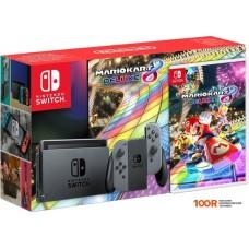 Игровыя консоль Nintendo Switch + Mario Kart 8 Deluxe (серый)