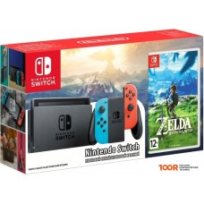 Игровыя консоль Nintendo Switch + The Legend of Zelda: Breath of the Wild (красный/синий)