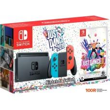 Игровыя консоль Nintendo Switch Just Dance 2019 (красный/синий)