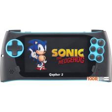 Игровая консоль Retro Genesis Gopher 2 (черный/синий)