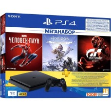 Игровая консоль Sony PlayStation 4 1TB Horizon Zero Dawn + Spider-Man + GTR