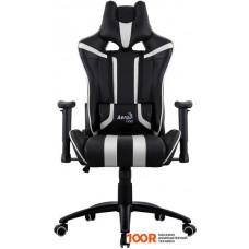 Игровое кресло AeroCool AC120 AIR (черный/белый)