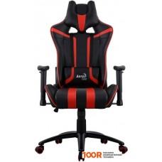 Игровое кресло AeroCool AC120 AIR (черный/красный)