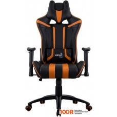 Игровое кресло AeroCool AC120 AIR (черный/оранжевый)