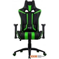 Игровое кресло AeroCool AC120 AIR (черный/зеленый)
