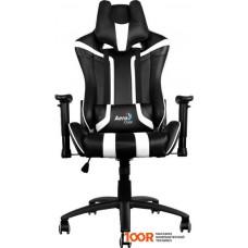 Игровое кресло AeroCool AC120 (черный/белый)