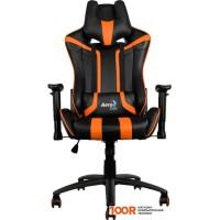 Игровое кресло AeroCool AC120 (черный/оранжевый)