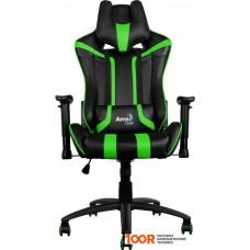 Игровое кресло AeroCool AC120 (черный/зеленый)