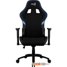 Игровое кресло AeroCool AERO 1 Alpha (черный/синий)