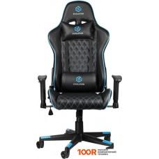 Игровое кресло Evolution Tactic 1 (черный/голубой)