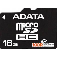Карта памяти A-Data microSDHC (Class 10) 16GB (AUSDH16GCL10-R)