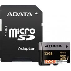 Карта памяти A-Data microSDHC UHS-I U3 Class 10 32GB [AUSDH32GUI3CL10-RA1]