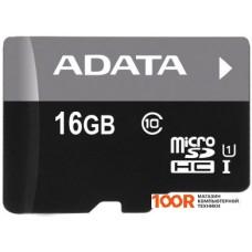 Карта памяти A-Data Premier microSDHC UHS-I U1 (10 Class) 16 Gb (AUSDH16GUICL10-RA1)