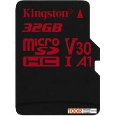 Карта памяти Kingston Canvas React SDCR/32GBSP microSDHC 32GB