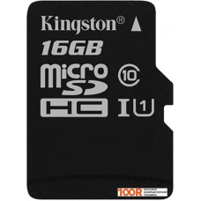 Карта памяти Kingston Canvas Select SDCS/16GBSP microSDHC 16GB