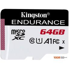 Карта памяти Kingston High Endurance microSDXC 64GB