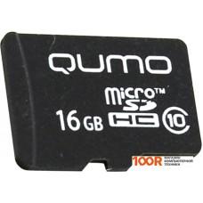 Карта памяти QUMO microSDHC QM16GMICSDHC10NA 16GB