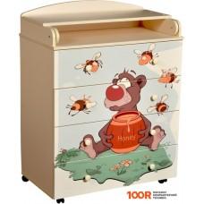 Комод Кедр Fantasia Little-bee (слоновая кость)