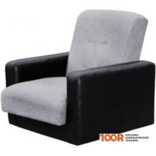 Кресло Craftmebel Лондон (рогожка, серый/черный)