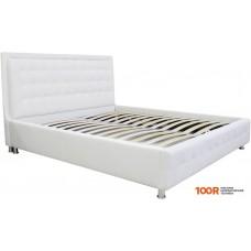 Кровать Экомебель Марсель 1 с ПМ 200x200 (основ. Летто Медио/ткань 2)